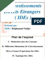 Présentation DE IDE