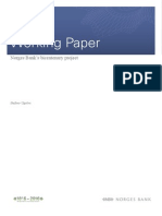 Norges Bank Working Paper 2011 7
