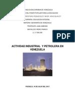Actividad Industrial y Petrolera en Venezuela