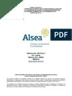 ALSEA Reporte Anual 2012