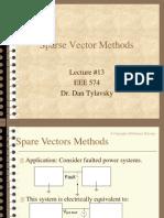 Sparse Vector Methods