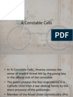 a constable calls