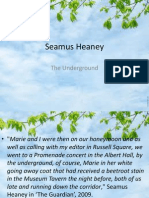 seamus heaney the underground