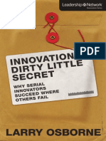 Innovation's Dirty Little Secret by Larry Osborne (Excerpt)