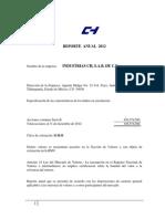 ICH Reporte Anual 2012