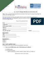 Application FormApplication Meisinger Fellowship 2013 FINAL