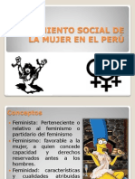 MOVIMIENTO SOCIAL DE LA MUJER EN EL PERÚ