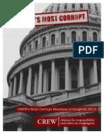 CREW Most Corrupt Members of Congress Report 2013