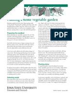 How to plant a vegitable garden