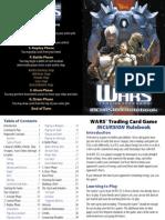 Decipher's Wars CCG - 1 Incursion Starter Deck Rules