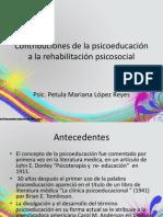 Contribuciones de la psicoeducación a la rehabilitación psicosocial
