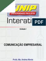 Slide de aula Comunicação Empresarial UND -1
