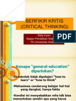 Critical Thinking Pspdg