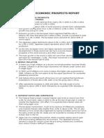 World Economic Prospects Report
