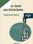 COMO LEER en BICICLETA_Como Leer en Bicicleta_Gabriel Zaid
