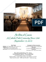 St. Rita Parish Bulletin 9/15/2013