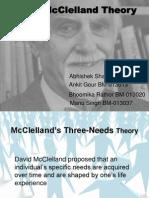 mcclelland's three need theory