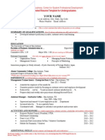 c Spd Sample Resume