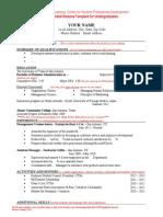 c Spd Sample Resume