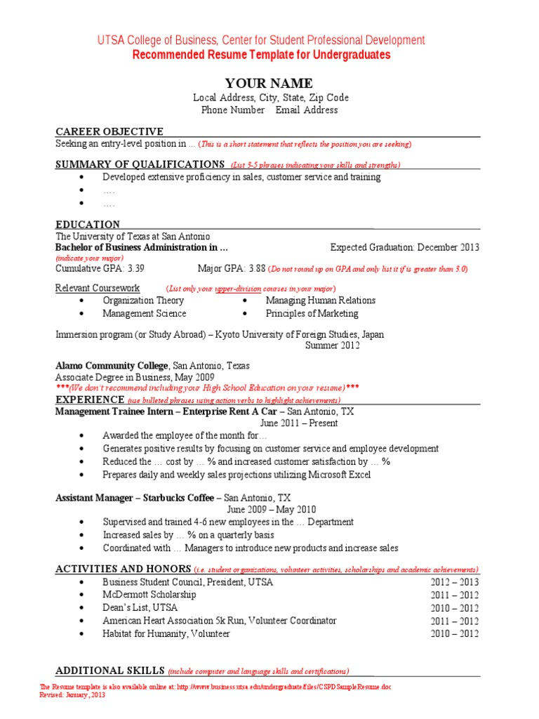C Spd Sample Resume Resume Associate Degree