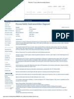RIGZONE - Process Safety Instrumentation Engineer