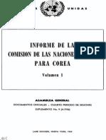 Informe de la Comisión de las Naciones Unidas para Corea (1949)