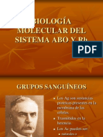 BIOLOGÍA MOLECULAR DEL SISTEMA ABO Y Rh