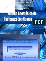 Anestesia y Neumopatias Universidad Del Zulia Venezuela 2012