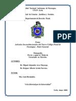 Artículos Inconstitucionales del Nuevo Código Penal de Nicaragua - Parte General.