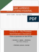 RJU - 8112 - Processo Adm Disciplinar