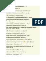 Lenguaje Algebraico y Comun