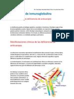 Deficiencia de Inmunoglobulinas