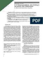 Critical Assessment of Temporomandibular Joint Clicking in Diagnosing Anterior Disc Displacement