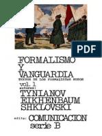 Ebooksclub.org Formalismo y Vanguardia Textos de Los Formalistas Rusos Comunicaci n Serie B No 3