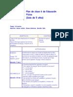 Plan de clase 6 de Educación Física