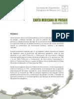 Carta Mexicana de Paisaje