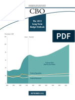 US Congressional Budget Office (CBO) Long Term Budget Outlook (September, 2013)