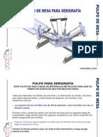Pulpo Serigrafico Paso a Paso
