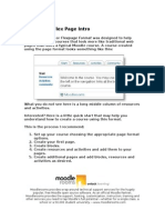Moodle The Page Format