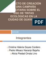 DIAPOSITIVAS MANUAL DE CAMPAÑA TINTAS ECOLOGICAS