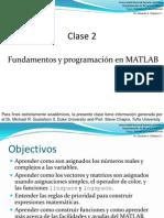 Clase 2 Fundamentos MATLAB y programación