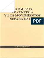 La Iglesia Adventista y Los Movimientos Separatistas - Mariano Renedo