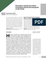 Daniel Veloso Hirata - Produção da desordem e gestão da ordem - Notas para uma história recente do transporte clandestino em SP