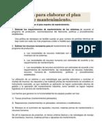Pasos Para Elaborar El Plan Maestro de Man.