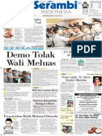 Harian Serambi Indonesia-Kasatpol PP Aceh Tersangka Kasus Pemotongan Gaji Tenaga Kontrak