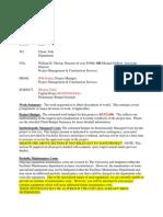Preliminary Estimate Letter