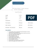 is 38 power blue water 3 cabin specification 18-9-13