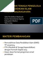 Penguatan Tenaga Pengelola Data Pendidikan Islam