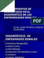 1.- Procedimientos de Laboratorio en el Diagnóstico de las Enfermedades Renales