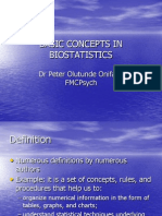 Basic Concepts in Biostatistics